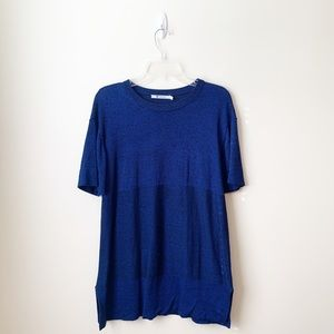 EUC - Alexander Wang - Blue Oversized Blouse - S